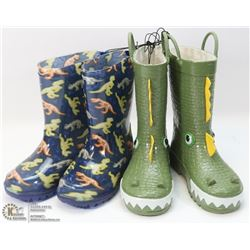 2 PACK CHILDS RUBBER BOOTS SIZE 10