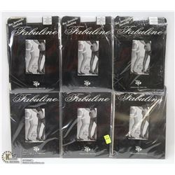 LOT OF 6 ASSORTED PANTY HOSE