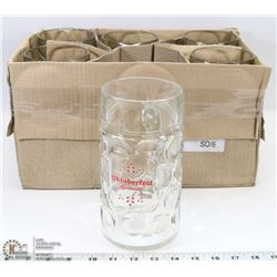 CASE OF 6 RICKARDS OKTOBERFEST 1 LITER BEER STEINS