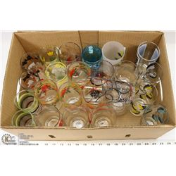 2) 24 VINTAGE PAINTED WATER GLASSES - SOME