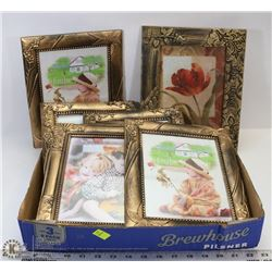 FLAT OF FRAMED PICTURES