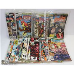 44 COMICS INCL TWO #1'S & SPIDER WOMAN RUN.