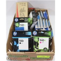 FLATS OF MIXED INK CARTRIDGES - HP, LEXMARK & MORE
