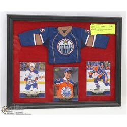 CONNOR MCDAVID MINI JERSEY FRAMED PICTURE,