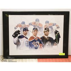 OILER FRAMED LITHOGRAPH - HOPKINS, HALL, EBERLE