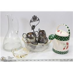 ASSORTED GLASSWARE.