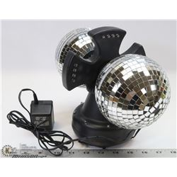 CREATIVE MOTION TWIN MIRROR DISCO LIGHT.