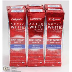 LOT OF 6 COLGATE OPTIC WHITE HIGH IMPACT WHITE