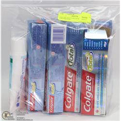BAG OF ASST COLGATE TOTAL TOOTHPASTE