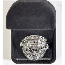 #3)STAINLESS STEEL SKULL SHAPE RING (SIZE 10).