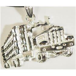 #14)STERLING SILVER TRUCK PENDANT ON
