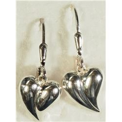 #16)STERLING SILVER LEAF EARRINGS