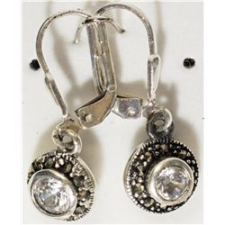 #28)STERLING SILVER MARCASITE & CUBIC