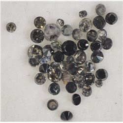 #30)GENUINE BLACK DIAMOND (APPROX. 0.5CT)