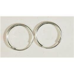 #36)STERLING SILVER BABY EARRINGS