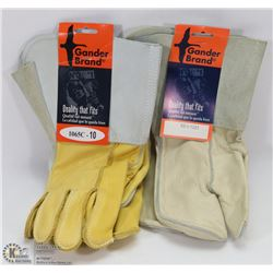 2 PAIR OF XL GANDER BRAND WELDING GLOVES.