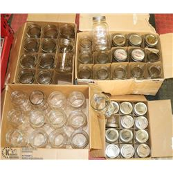 LOT OF 4 BOXES OF MASON CANNING JARS.