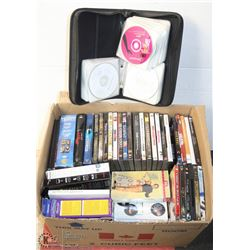 LARGE LOT OF ASSORTED DVD'S AND CD'S