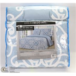 NEW 6PC BED QUILT SET KING SIZE