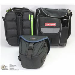 3 NEW TOOL BAGS AND POUCHES INCL CRAFTSMAN