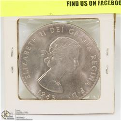 1965 WINSTON CHURCHILL COMMEMORATIVE TOKEN