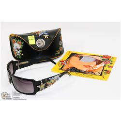 GENUINE ED HARDY SUNGLASSES WITH CASE