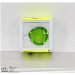 #87-GREEN TOPAZ GEMSTONE 11CT