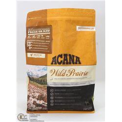 4.4LB OF ACANA WILD PRAIRIE DOG FOOD