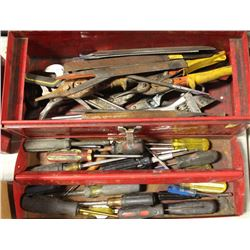 MASTERCRAFT TOOL BOX WITH CONTENTS