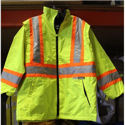 CONDOR HI VIS WORK JACKET SIZE LARGE