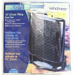"WINDERMERE THREE SPEEDS 10"" TILTING EUROFAN"