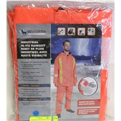LARGE WETSKINS INDUSTRIAL HI VIS RAINSUIT