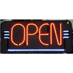 FALLON NEON OPEN SIGN TESTED AND WORKING 120V