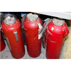 LOT OF 3 DRY CHEMICAL FIRE EXTINGUISHERS