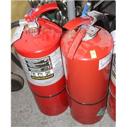 GROUP OF 2 FIRE EXTINGUISHERS 20LB