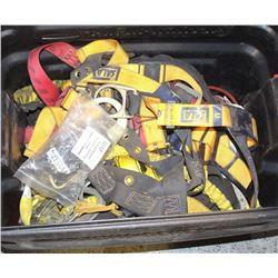 TOTE WITH SAFETY HARNESSES AND OTHER SAFETY GEAR
