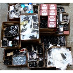 PALLET OF VARIOUS FASTNERS, NUTS, X BOLTS AND MORE