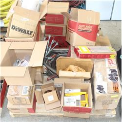 PALLET OF MISC. COMMERCIAL CONSTRUCTION TOOLS AND