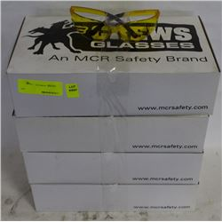 4 CASE NEW CREWS SAFETY GLASSES