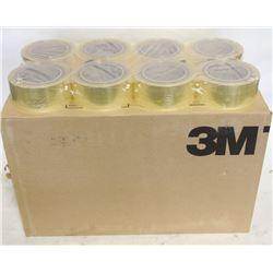 CASE OF 48 ROLLS OF 3M BOX-SEALING/PACKING TAPE