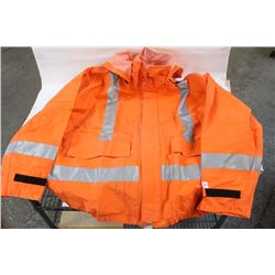 NASCO XXL FR HI-VIS RAIN JACKET WITH HOOD