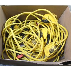 BOX OF JOBSITE STRING LIGHTS
