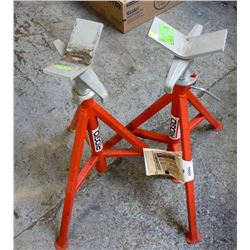 PAIR OF RIGGED PORTABLE PIPE STAND