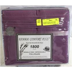 BAMBOO DOUBLE SIZE DARK PURPLE  COMFORT PLUS 1800