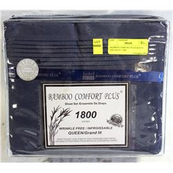 BAMBOO COMFORT PLUS QUEEN  SIZE NAVY  1800