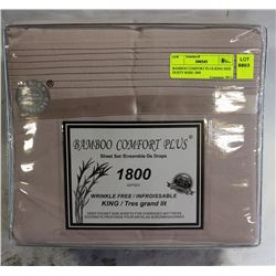 BAMBOO COMFORT PLUS KING SIZE DUSTY ROSE 1800