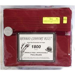BAMBOO DOUBLE SIZE BURGUNDY COMFORT PLUS 1800