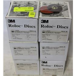 "6 CASES OF ROLOC ABRASIVE 2"" DISCS 80 GRADE"