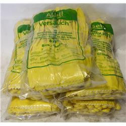 5 BUNDLES SIZE 9 ANSELL RUBBER LATEX GLOVES
