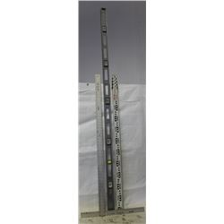 6FT LEVEL WITH STARRETT T SQUARE AND SURVEYORS
